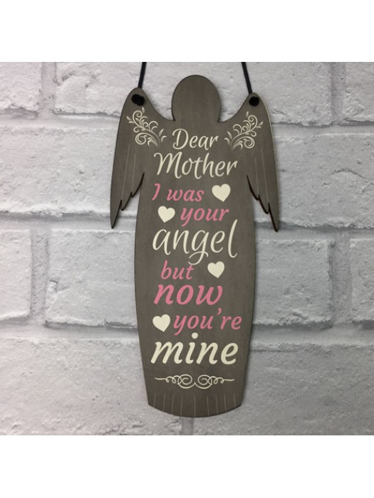 I Was Your Angel Grave Hanging Wood Angel Plaque Loving Memory