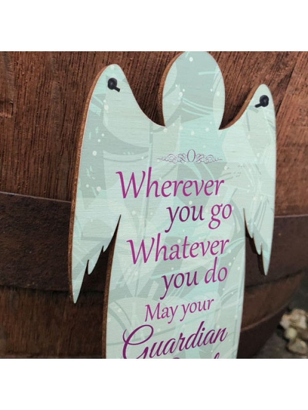Guardian Grave Wooden Angel Plaque Loving Memory Mum Dad Nan