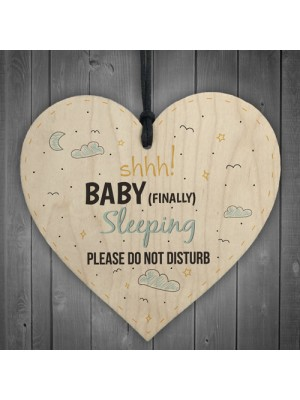 Baby Sleeping Hanging Heart Baby Son Daughter Bedroom Plaques