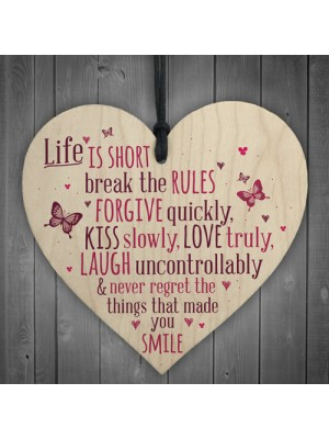 Life Is Short Smile Motivational Friendship Gifts Quote Signs