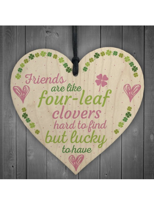 'Friends Are Like' Friendship Sign Best Friend Gift Wood Heart