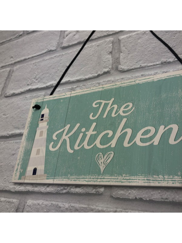 The Kitchen Hanging Plaque Seaside Nautical GIFT Shabby Chic