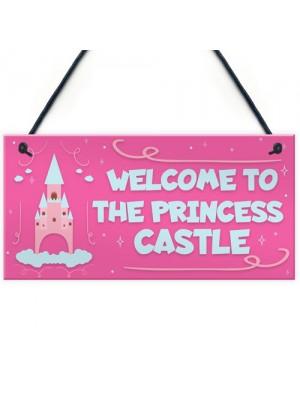 Princess Castle Plaque Door Playroom Bedroom Sign Gift Baby Girl