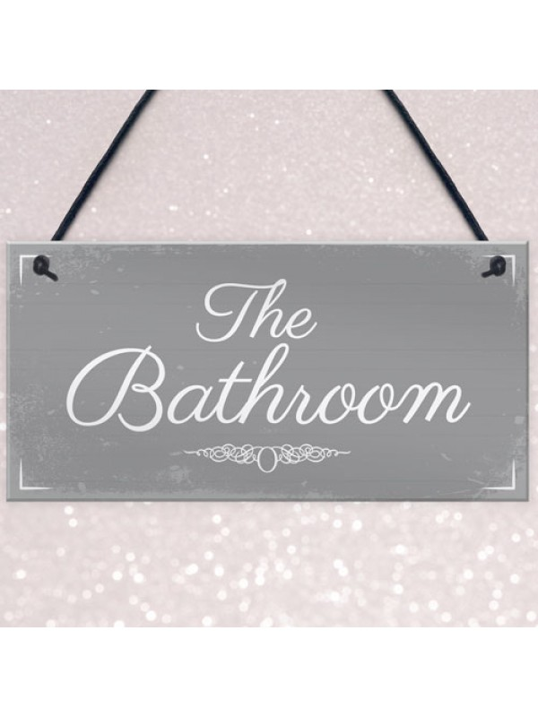 'THE BATHROOM' Door Sign Plaque Sign for Toilet or Bathroom