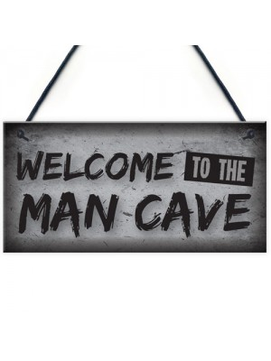 Man Cave Plaque Funny Sign Fathers Day Gift Game Boys Room Gifts