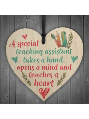 Special Teacher Leaving Gift Plaque Teaching Assistant Thank You