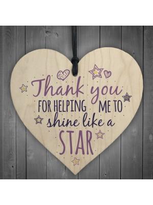Teacher Leaving Gift Heart Sign Teaching Assistant ThankYou Gift