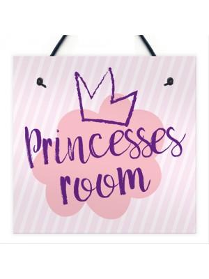 Princesses Room Plaque Door Nursery Bedroom Sign Gifts Baby Girl