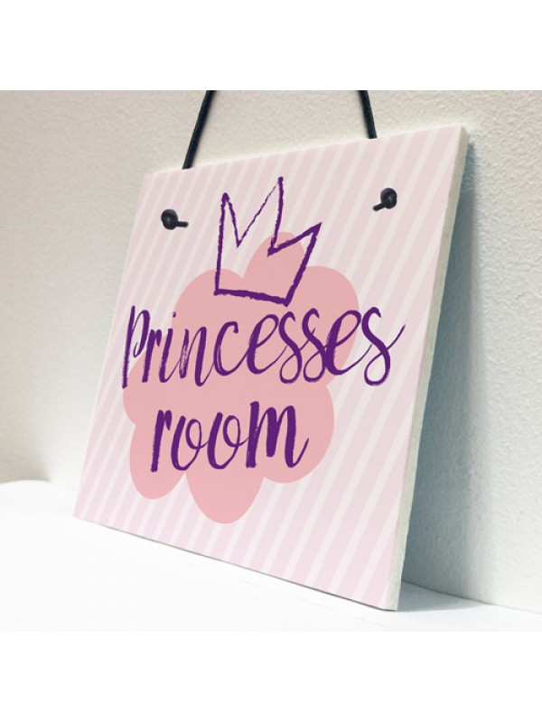 Princesses Room Plaque Door Nursery Bedroom Sign Gifts Baby Girl