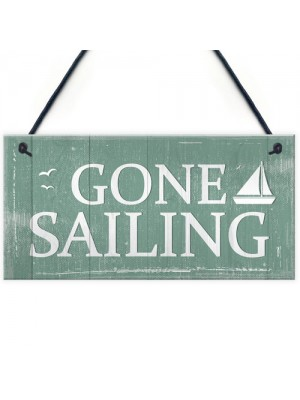 Gone Sailing Hanging Plaques Nautical Decor Beach Seaside Chic