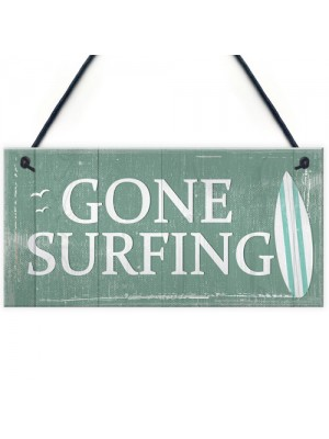 one Surfing Hanging Plaque Nautical Decor Beach Seaside Chic