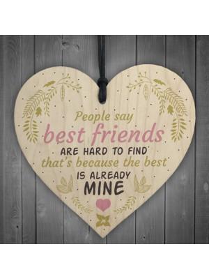 Best Friends Hard To Find Wood Heart Friendship Plaque Birthday