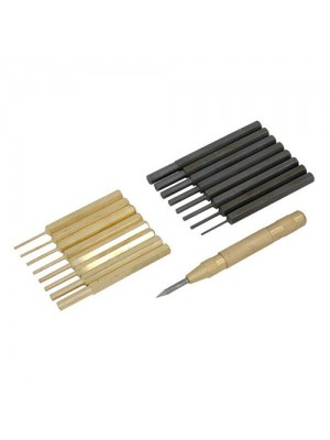 Steel and Brass Pin Punch Set Centre Punch Tool Kit