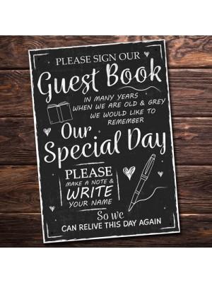 Sign Guest Book Wedding Table Chalkboard Plaquea Wedding Decor
