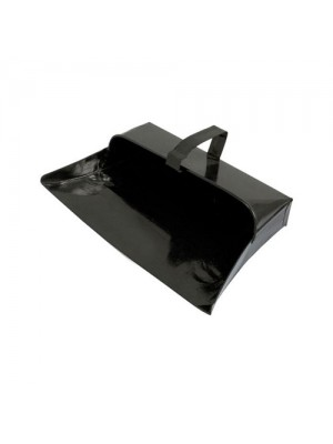 Heavy Duty Metal Dust Pan Durable Fixed Handle Dustpan - 32cm