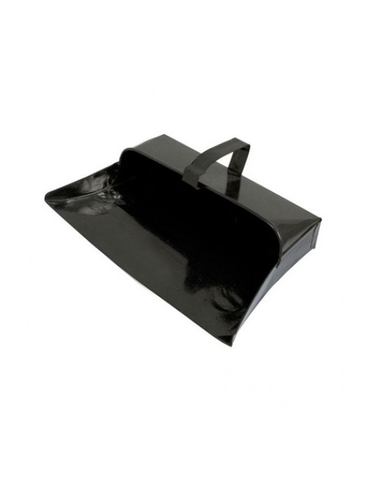 Heavy Duty Metal Dust Pan Durable Fixed Handle Dustpan - 32cm