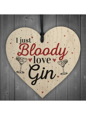 Bloody Love Gin & Tonic Funny Alcohol Sign Pub Party Gift Sign