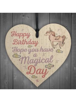 Magical Day Happy Birthday Heart Unicorn Girlfriend Mum Daughter