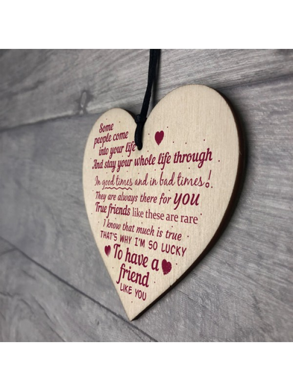 A Friend Like You Friendship Friend Sign Plaque Gift Wood Sign