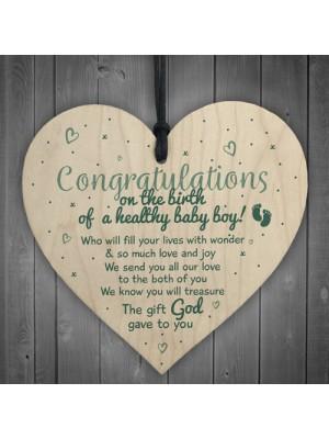 Baby Boy Birth Congratualtions Son Parents Grandparents Gift