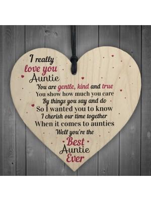 I Love You Auntie Heart Family Keepsakes Birthday Aunty Aunt Mum
