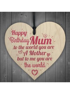 Happy Birthday Mum Heart Mummy Funny Special Card Baby Son