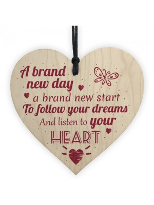 Follow Your Dreams Inspirational Hanging Plaque Friendship Gift