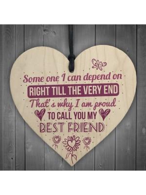 My Best Friend Sentimental Friendship Friend Gift Wood Heart