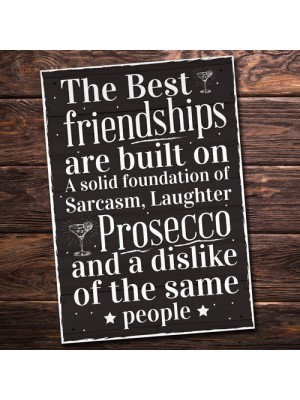 Friendship Sign Best Friend Prosecco Plaque Gifts For Women Her