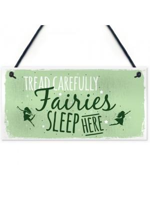 Fairies Sleep Here Garden Fairy Sign Plaque Home Gift Friend