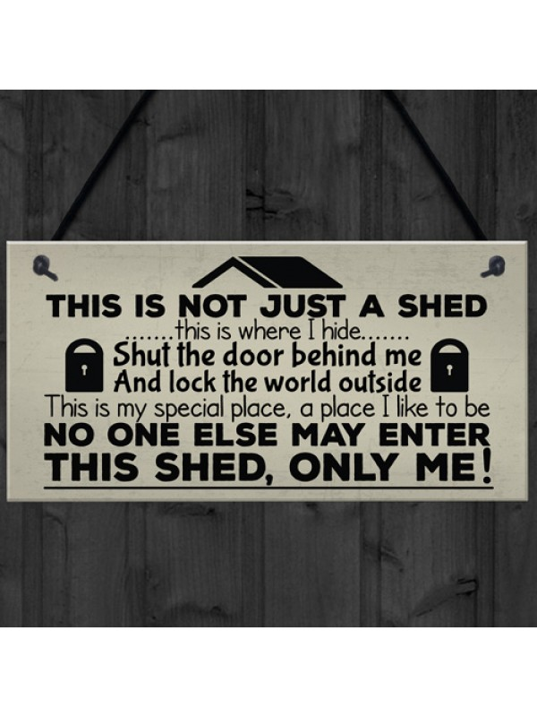 Shut The Door Novelty Shed Plaque SummerHouse Garden Sign Man