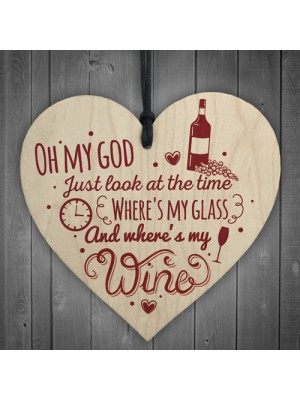 Where's My Wine Funny Alcohol Gift Home Bar Plaque Pub Friends