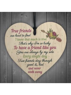 So Lucky Friendship Wooden Heart Sign Best Friend Plaque