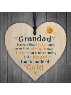Fathers Day Heart Plaques Dad Grandad Grandpa Birthday Gifts