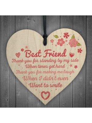 Thank You Friendship Sign Best Friend Plaque Gift Shabby Chic