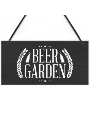 Beer Garden Sign Chic Style Hanging Plaque Pub Bar Alcohol Gift