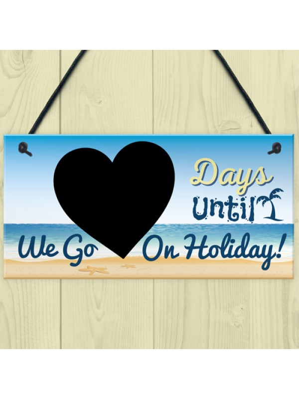Chalkboard Countdown Days Until Holiday Plaque Sign Family Sign