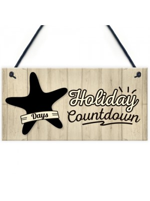 Chalkboard Holiday Countdown Hanging Sign Plaque Friendship