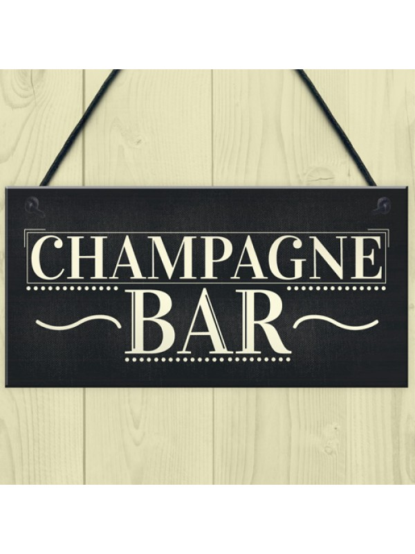 Champagne Bar Hanging Signs Gin & Tonic Pub BBQ Party Alcohol