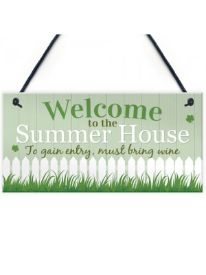 Welcome To Garden Novelty Plaque Summer House Sign Garden Shed