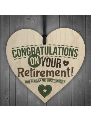 Congratulations Retirement Sign Novelty Keepsake Leaving Work