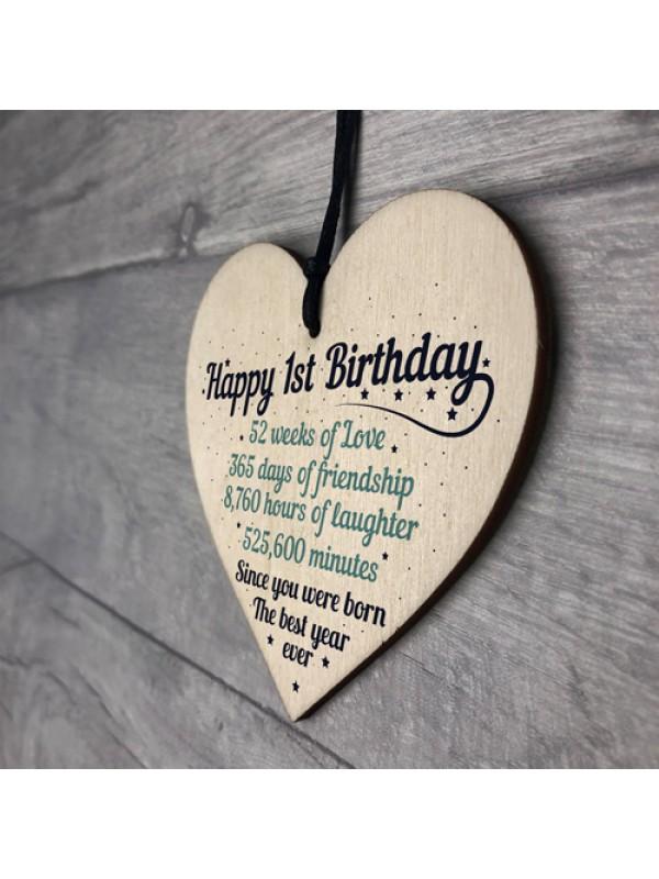 1st First Birthday Baby Daughter Son Grandson Grandaughter Nephe