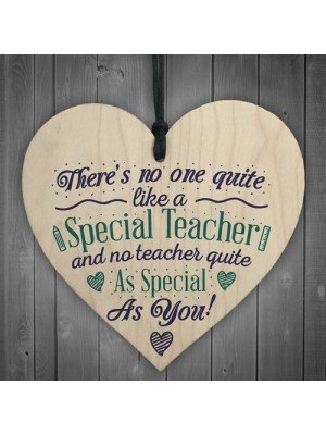 Special Teacher Thank You Gift Teaching Assistant Nursery Heart