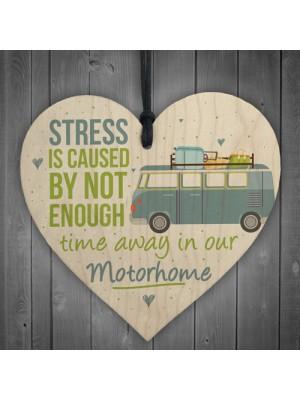Motorhome Caravan Campervan Novelty Wooden Heart Camping Sign