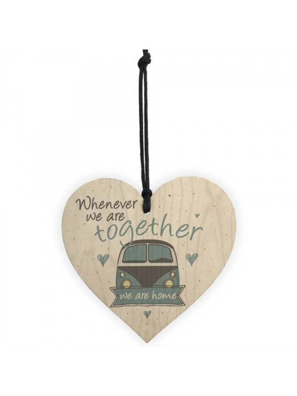 Together Caravan Wooden Family Plaque Shabby Chic Home Decor