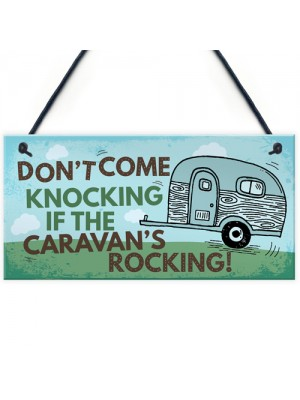 Caravan Rocking Novelty Hanging Plaque Retirement Holiday Gift