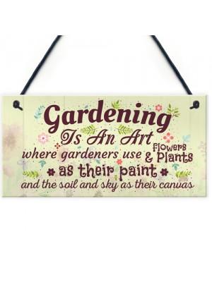 Gardening Art Novelty Hanging Plaques SummerHouse Signs Garden