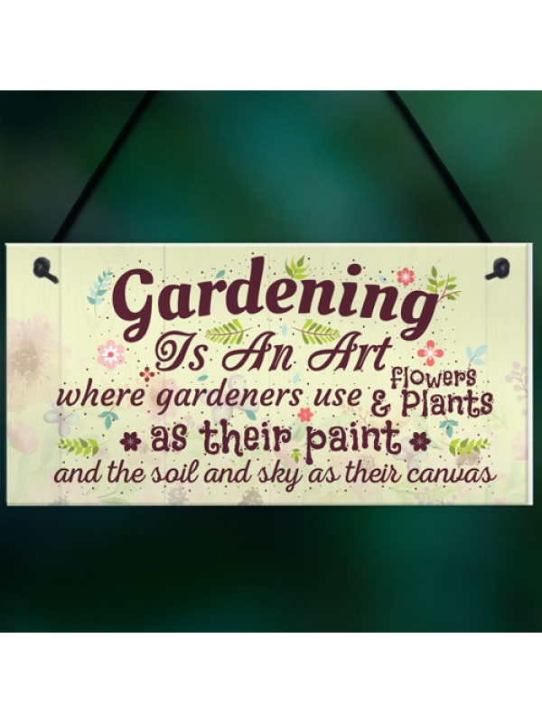 Gardening Art Novelty Hanging Plaques SummerHouse Signs Garden