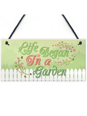 Life Began Plaques SummerHouse Signs Garden Shed Mum Nan