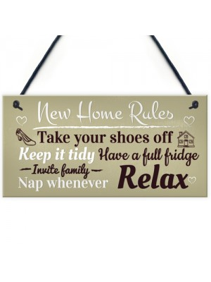 House Rules Novelty Wall Plaques Shabby Home Decor Kitchen Sign